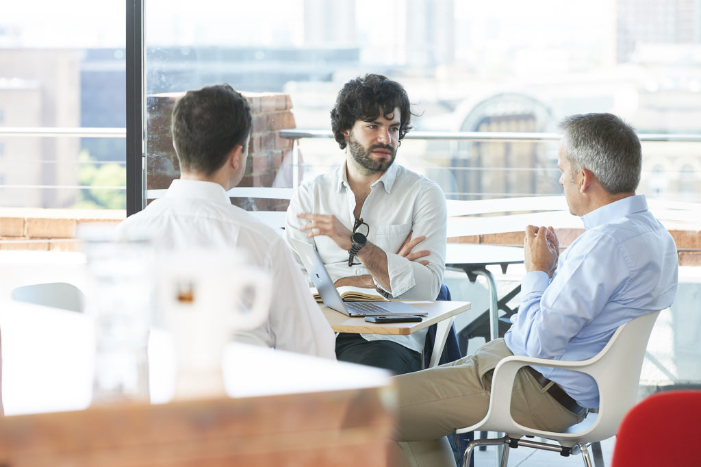 A major benefit of coworking is how great it is for networking and collaborating