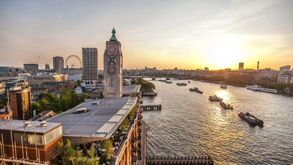 Sea Containers London - summer party venue with a city skyline view