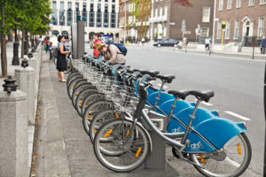 Bikes In Dublin, Near St. Stephen's Green, the home of Us & Co's Dublin co-working space