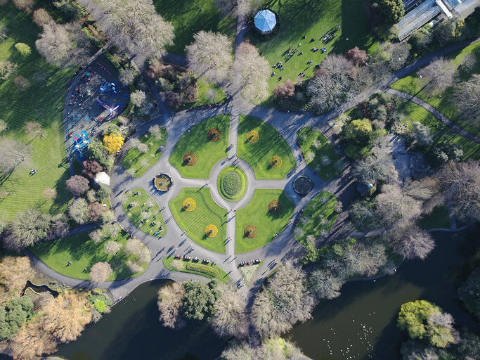Birds Eye View Of St Stephen's Green, home of Us & Co's new Dublin work space