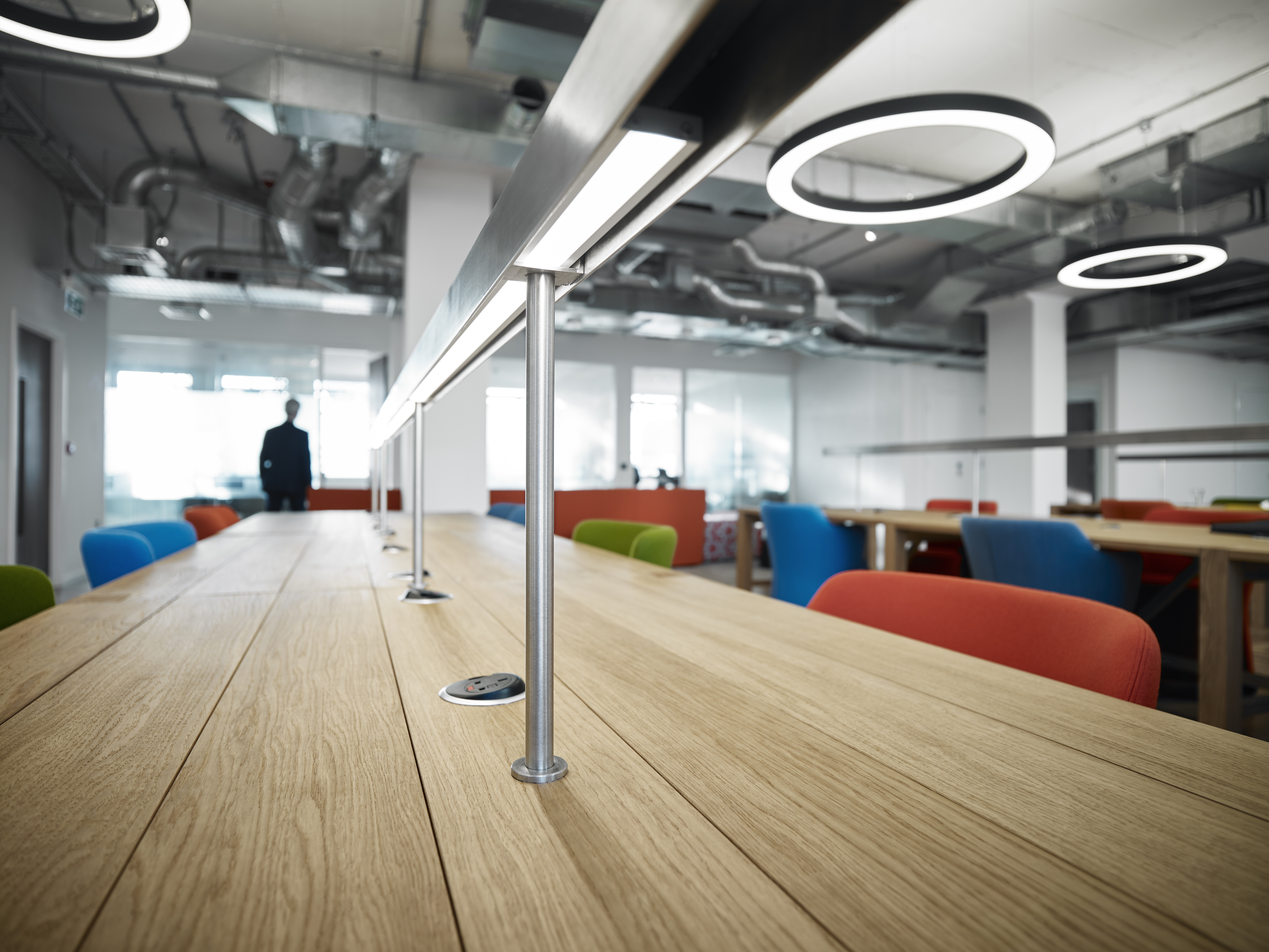 Hot desk with Us&Co in London and Dublin with large open plan coworking floors
