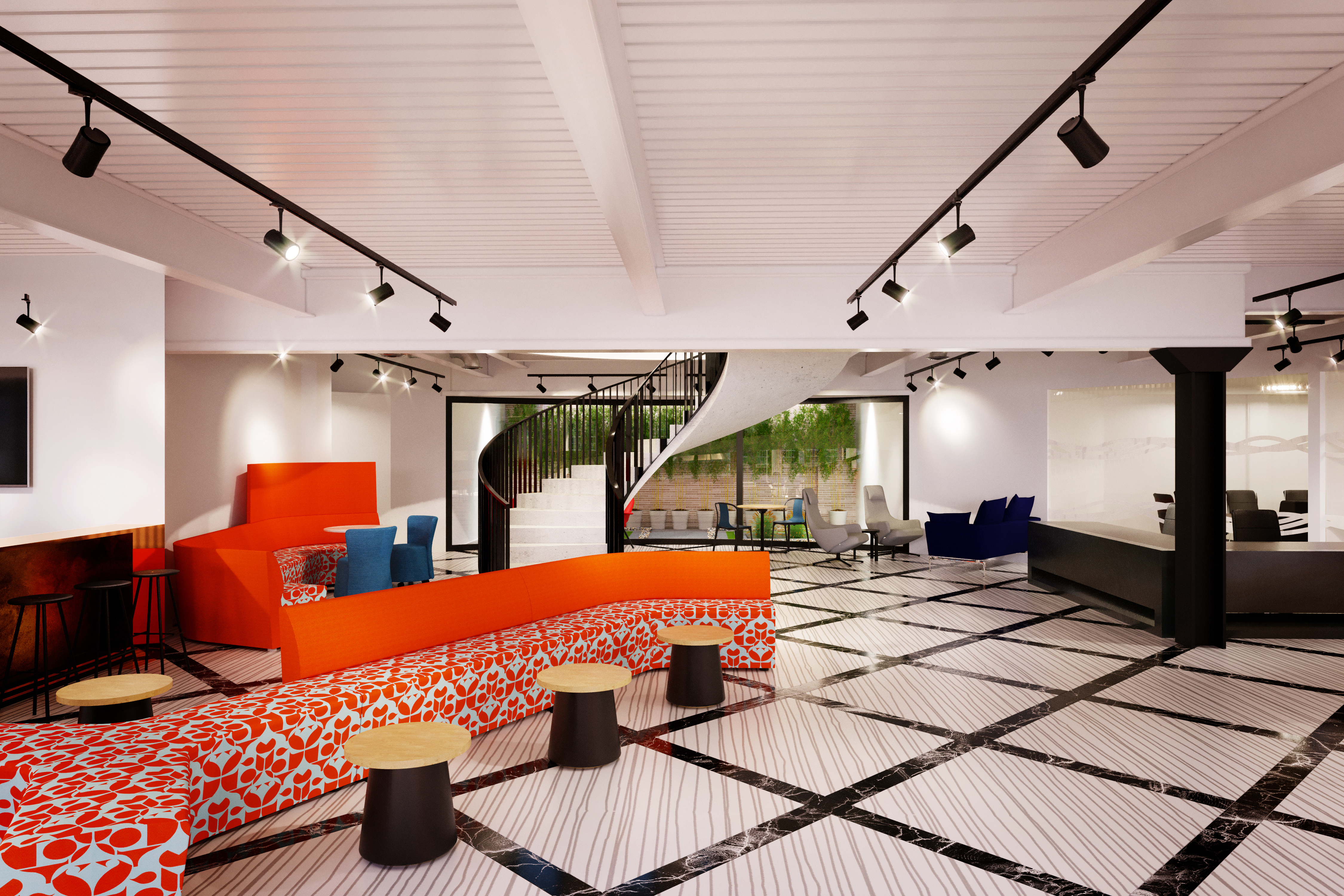 The entrance hall to Us&Co Dublin's professional coworking space