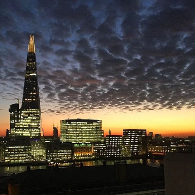 Christmas party venues in london with a view of the Shard