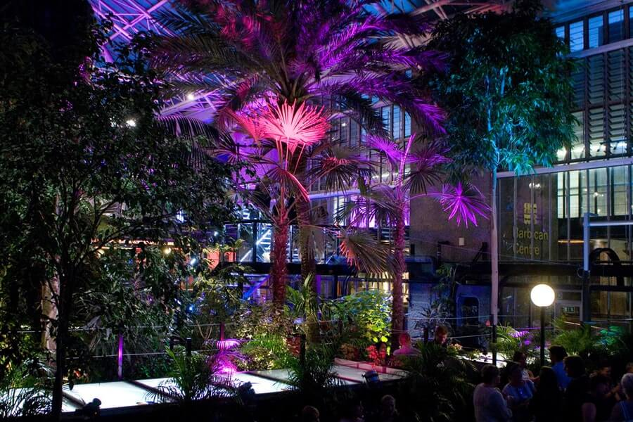 Conservatory And Garden Room Barbican for a tropical London Christmas party